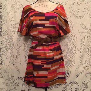Geometric Printed Hi-Lo Dress